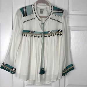 Chico's Boho Fringe  Jacket Size Medium EUC